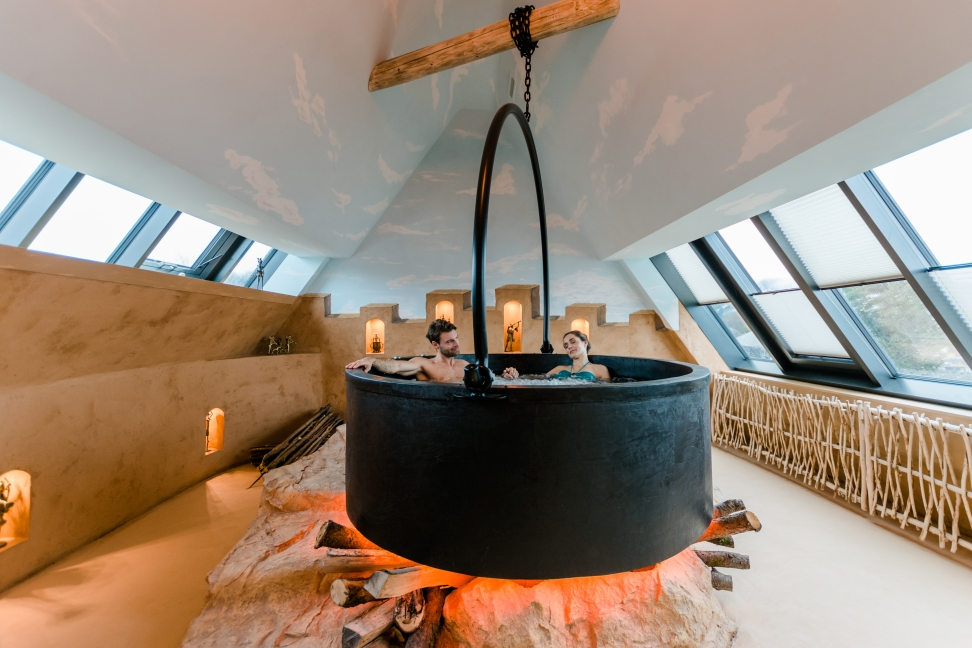 Die Private Spa Suiten im Wellnesshotel Deltapark in der Schweiz